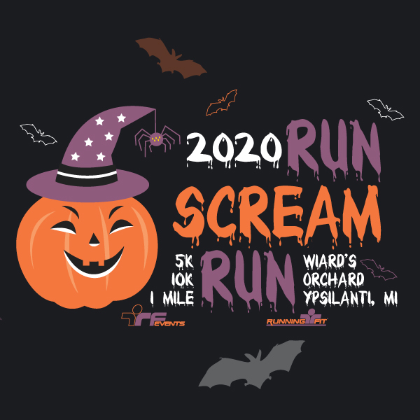 RUN SCREAM CALENDAR SQUARE